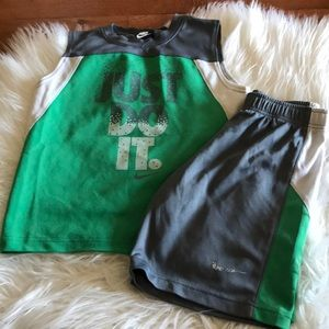 Nike boys active wear 2 piece set/ tank and shorts